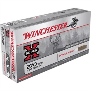 Winchester Super-X Ammo 270 Wsm 150gr Power-Point - 270 Wsm 150gr Power-Point 20/Box