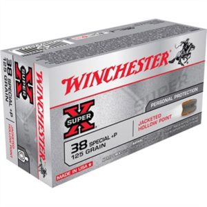 Winchester Super-X Ammo 38 Special +p 125gr Jhp - 38 Special +p 125gr Jacketed Hollow Point 50/Box