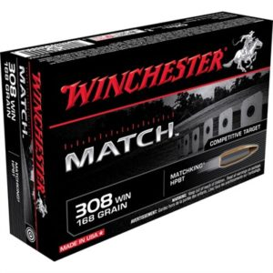 Winchester Supreme Match Ammo 308 Winchester 168gr Hpbt - 308 Winchester 168gr Hollow Point Boat Tail 20/Box