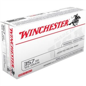 Winchester Usa White Box Ammo 357 Sig 125gr Jhp - 357 Sig 125gr Jacketed Hollow Point 50/Box