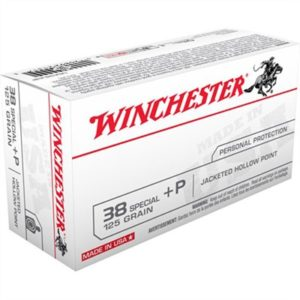 Winchester Usa White Box Ammo 38 Special +p 125gr Jhp - 38 Special +p 125gr Jacketed Hollow Point 50/Box