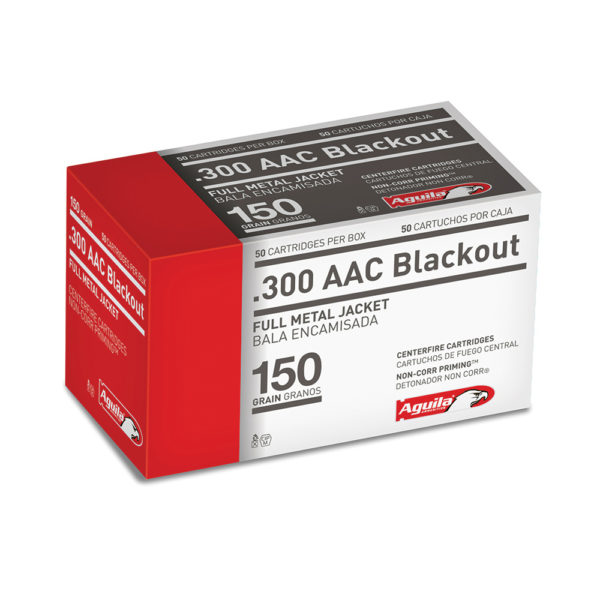 Aguila Centerfire Rifle Ammunition, .300 AAC Blackout, 150-gr, FMJ