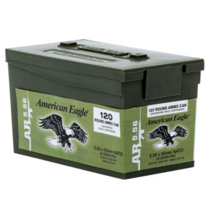 American Eagle AR-5.56 M855 Rifle Ammo Mini Can, 62-gr, FMJ