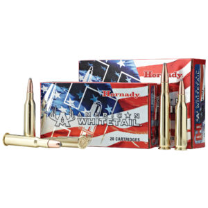 Hornady American Whitetail Rifle Ammo, 7mm-08 Rem, 139-gr, SP InterLock