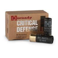 "Hornady Critical Defense, 12 Gauge, 2 3/4"" Shells, 00 Buckshot, 10 Rounds"