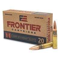 Hornady Frontier Cartridge, .300 AAC Blackout, FMJ, 125 Grain, 20 Rounds