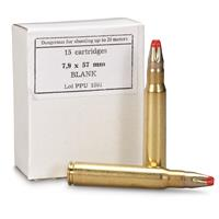 PPU, 7.9x57mm, Standard Blank Ammo, 15 Rounds