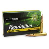 Remington CORE-LOKT, .30-06 Springfield, PSP, 180 Grain, 20 Rounds