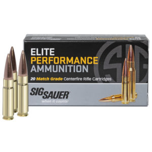 SIG Sauer Elite Performance Match Ammo, .300 AAC Blackout, 125-gr, Supersonic