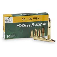 Sellier & Bellot, .30-30 Winchester, SP, 150 Grain, 20 Rounds