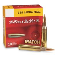 Sellier & Bellot, .338 Lapua Magnum, Hollow Point Boat Tail, 300 Grain, 10 Rounds