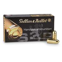 Sellier & Bellot, .380 ACP, FMJ, 92 Grain, 250 Rounds