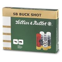"Sellier & Bellot, 12 Gauge, 2 3/4"" Shells, 1 1/4 oz., #4 Buckshot, 10 Rounds"