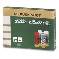 "Sellier & Bellot, 12 Gauge, 2 3/4"" Shells, #4 Buckshot, 10 Rounds"