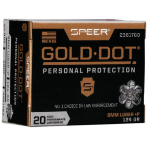 Speer Gold Dot Personal Protection Ammo, 9mm Luger +P