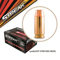 Streak Visual, .40 S&W, Jacketed Hollow Point, 180 Grain, 20 Rounds