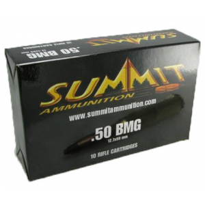 Summit Rifle Ammunition with Once-Fired Brass .50 BMG 649 gr Ball - 10/box