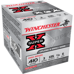 "Winchester Super-X High Brass Ammo, .410-ga, 3"", 11/16-oz, #6"