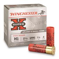 "Winchester, Super-X High Brass Game Loads, 16 Gauge, 2 3/4"" 1 1/8 ozs., 25 Rounds"