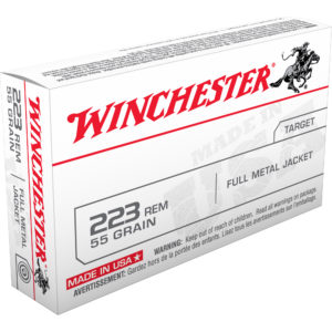 Winchester USA Rifle Ammo, .223 Rem, 55-gr, FMJ