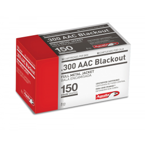 Aguila Rifle Ammunition .300 AAC Blackout 150 gr FMJ 1900 fps 50/ct