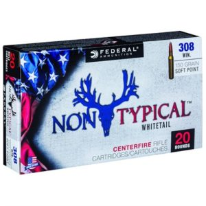 Federal Non-Typical Whitetail Ammo 308 Winchester 150gr Soft Point - 308 Winchester 150gr Soft Point 20/Box