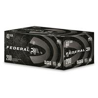 Federal Black Pack, .40 S&W, FMJ, 165 Grain, 200 Rounds