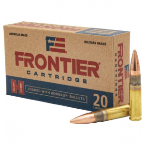 Hornady Frontier Rifle Ammunition .300 AAC Blackout 125gr FMJ 2175 fps 20/ct