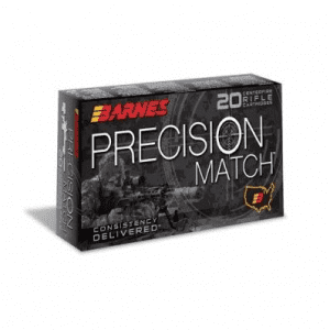 Barnes Precision Match Ammunition .300 AAC Blackout 125 gr 2215 fps OTM BT 20/Box