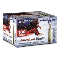 Federal American Eagle, .223 Remington, FMJ, 55 Grain, 100 Rounds
