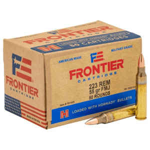 Hornady Frontier Rifle Ammunition .223 Rem 55 gr FMJ 3240 fps 50/ct