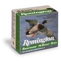 "Remington Sportsman Hi-Speed Steel, 20 Gauge, 3"" Shot Shells, 1 oz., 250 Rounds"