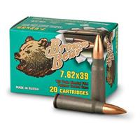 Brown Bear, 7.62x39, FMJ, 123 Grain, 500 Rounds