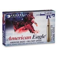 Federal American Eagle Military Grade, .223 Remington, FMJBT, 55 Grain, 20 Rounds