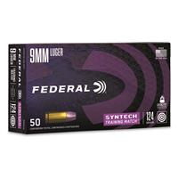 Federal Syntech Training Match, 9mm, TSJ, 124 Grain, 50 Rounds