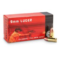 GECO, 9mm, FMJ, 124 Grain, 50 Rounds