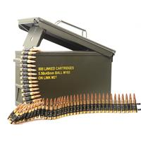 Magtech M27 Linked Ammo, .223 (5.56x45mm), FMJ, 55 Grain, 800 Linked Rounds in Ammo Can