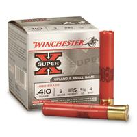 "Winchester Super-X High Brass Game Loads, .410 Bore, 3"", 1 1/16 oz., 25 Rounds"